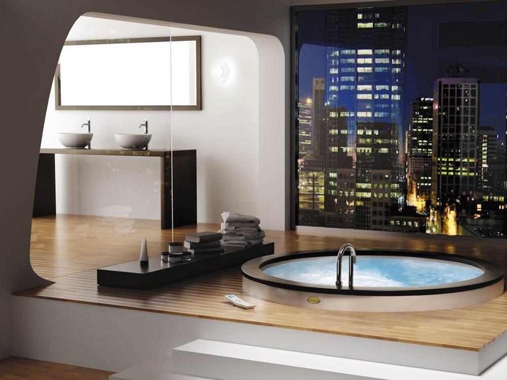 Design di lusso per il bagno mam ceramiche - Bagni con pavimento in legno ...