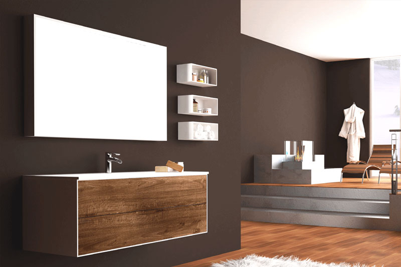 7 idee per i mobili bagno mam ceramiche - Legno per bagno ...