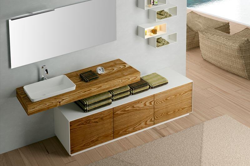 mobili bagno legno massello arredobagno in teak composizione di mobili da bagno legno