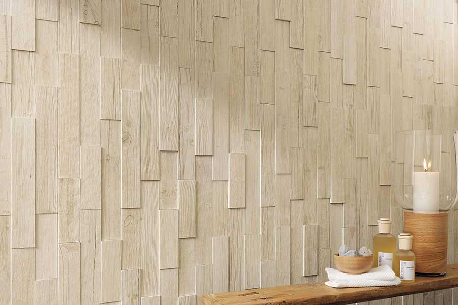 Come scegliere il rivestimento del bagno mam ceramiche - Bagno con gres effetto legno ...
