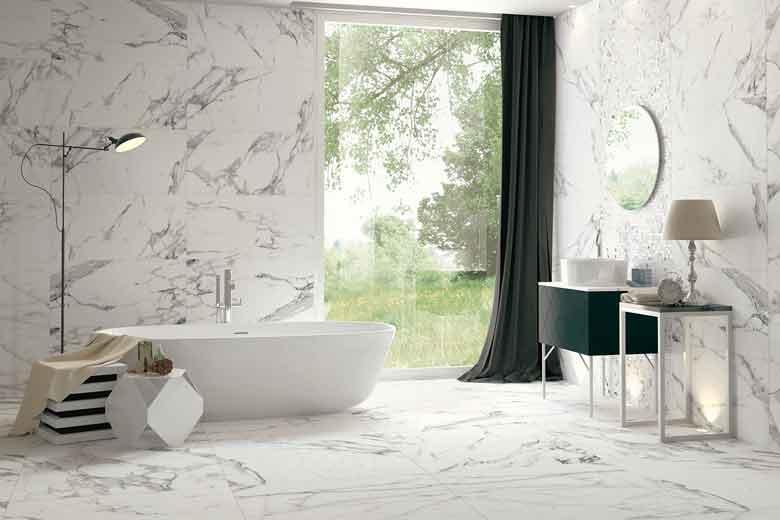 Gres porcellantato effetto marmo ritorna nelle case mam - Piastrelle senza fuga ...