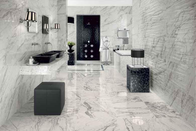 Gres porcellantato effetto marmo ritorna nelle case mam ceramiche